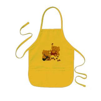 かわいく黄色い象の遊ぶこと 子供用エプロン