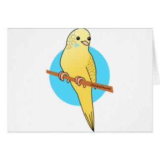 かわいく黄色いBudgie カード