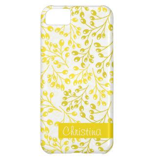 かわいく黄色および白い秋の果実 iPhone5Cケース