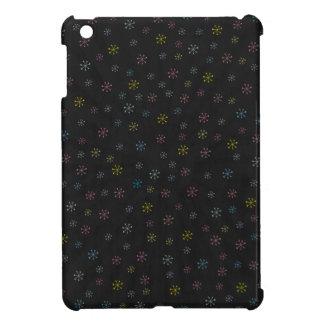 かわいく黒い花の落書きパターン iPad MINIケース