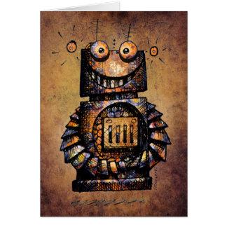 かわいく、おもしろいでカスタムな子供のロボットハッピーバースデー カード