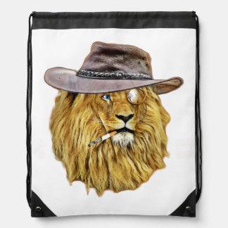 かわいく、おもしろいなライオン ナップサック