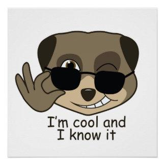 かわいく、喜劇的なmeerkatの設計 ポスター