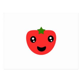 かわいく、幸せなトマト ポストカード