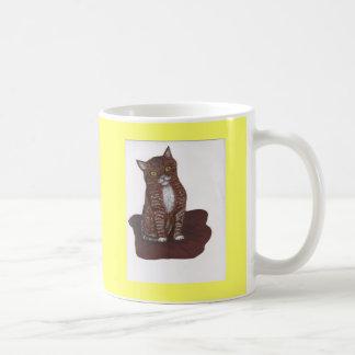 かわいく、恐い子ネコ コーヒーマグカップ