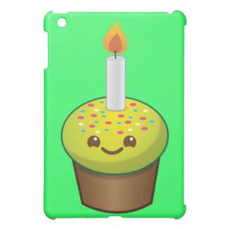 かわいこちゃんのカップケーキのハッピーバースデーのスマイル iPad MINIカバー