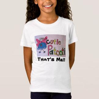 かわいこちゃんのpatootiは、それ私です!! 女の子のワイシャツ tシャツ