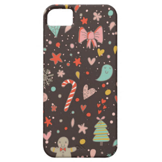 かわいらしいクリスマスパターン iPhone SE/5/5s ケース