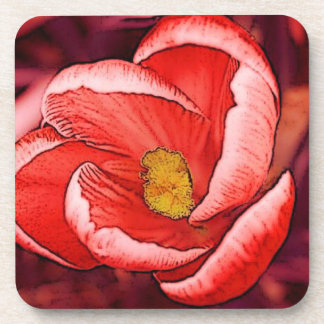 かわいらしいクロッカスの花 コースター