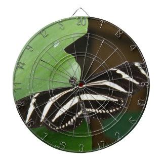 かわいらしいシマウマのLongwingの蝶投げ矢板 ダーツボード