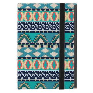 かわいらしいターコイズはヴィンテージの種族の幾何学的振ります iPad MINI ケース