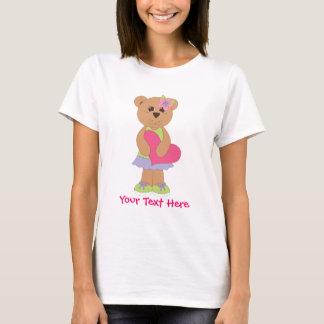 かわいらしいテディベア Tシャツ