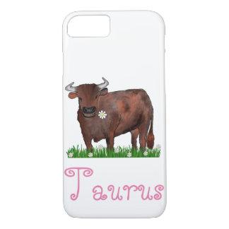 かわいらしいトーラスBullおよびデイジーの(占星術の)十二宮図の電話箱 iPhone 8/7ケース