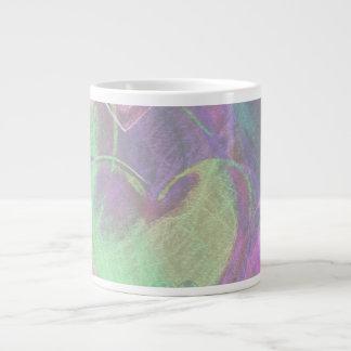 かわいらしいハートのマグ ジャンボコーヒーマグカップ