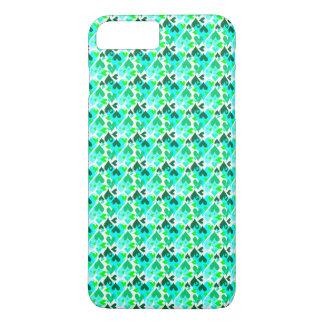 かわいらしいハートパターン移動式場合の緑 iPhone 8 PLUS/7 PLUSケース