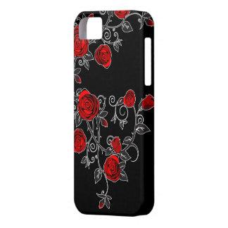 かわいらしいバラの取留めのないつる植物のiphone 5の場合カバー赤 iPhone SE/5/5s ケース