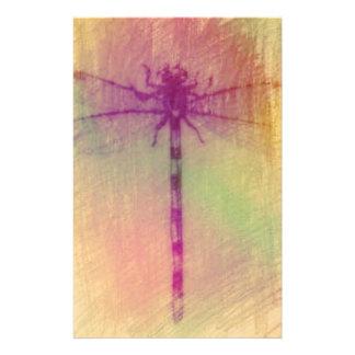 かわいらしいパステル調のアートなトンボ 便箋