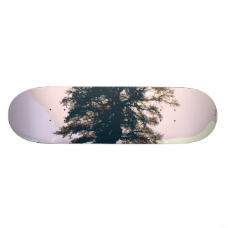 かわいらしいパステル調の木の抽象美術のスケートボード 19.7CM スケートボードデッキ