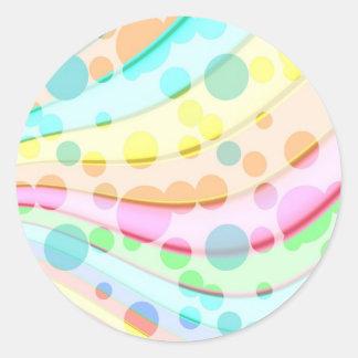 かわいらしいパステル調の泡 ラウンドシール