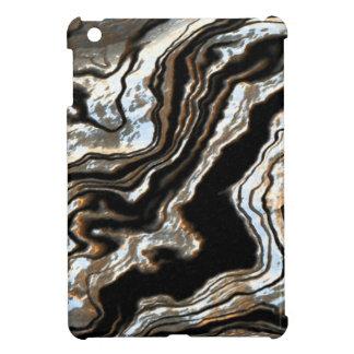 かわいらしいパターン金ゴールドおよび銀製の調子 iPad MINI カバー