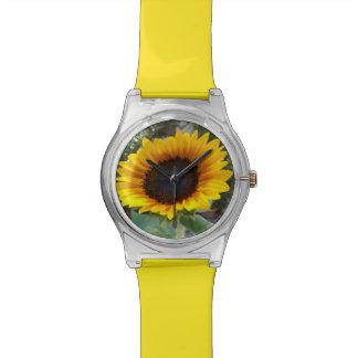 かわいらしいヒマワリ 腕時計