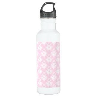 かわいらしいピンクおよび白いパターン。 ダマスク織 ウォーターボトル