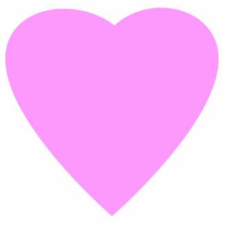かわいらしいピンクおよび白い愛中心 フォトスカルプチャー