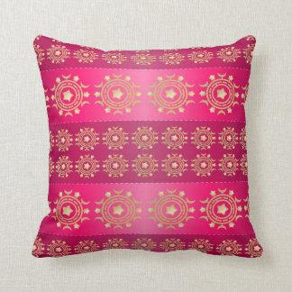 かわいらしいピンクおよび金ゴールドパターン枕 クッション