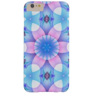 かわいらしいピンクおよび青い花のフラクタル BARELY THERE iPhone 6 PLUS ケース