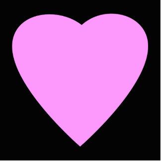 かわいらしいピンクおよび黒い愛中心 写真彫刻オーナメント