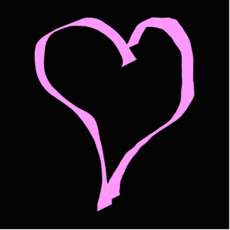 かわいらしいピンクおよび黒い愛中心 写真彫刻バッジ