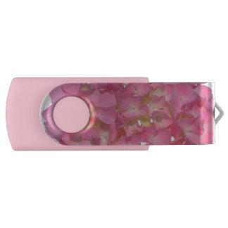 かわいらしいピンクのアジサイ USBフラッシュドライブ