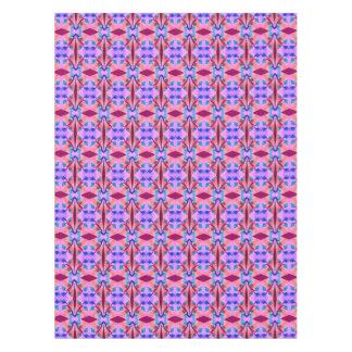 かわいらしいピンクのオレンジの抽象芸術パターンデザイン テーブルクロス