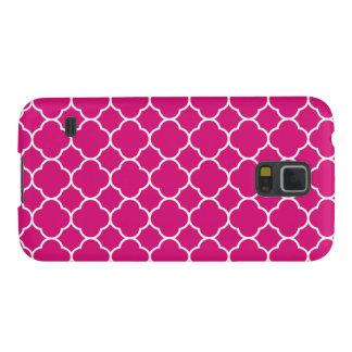 かわいらしいピンクのクローバーパターン GALAXY S5 ケース