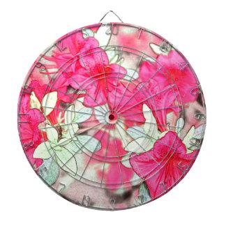 かわいらしいピンクのツツジの花。 花の園芸植物 ダーツボード
