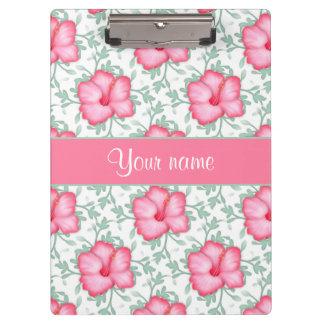 かわいらしいピンクのハイビスカスの花 クリップボード