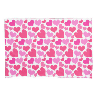 かわいらしいピンクのハート 枕カバー
