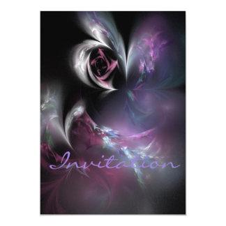 かわいらしいピンクのバラのフラクタル カード