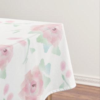かわいらしいピンクのバラパターン夏の花柄 テーブルクロス