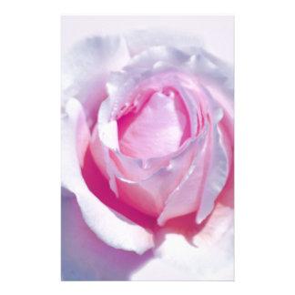かわいらしいピンクのバラ 便箋
