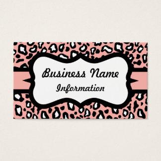 かわいらしいピンクのヒョウの名刺 名刺