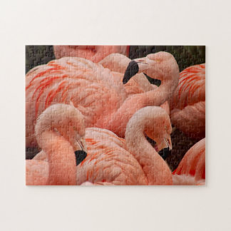 かわいらしいピンクのフラミンゴのプリントのパズル ジグソーパズル