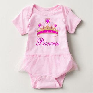 かわいらしいピンクのプリンセスのティアラのベビーのチュチュのボディスーツ ベビーボディスーツ