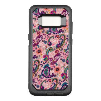 かわいらしいピンクのペイズリーパターン オッターボックスコミューターSamsung GALAXY S8 ケース