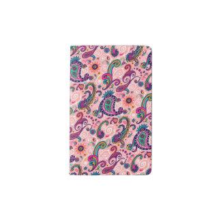 かわいらしいピンクのペイズリーパターン ポケットMoleskineノートブック