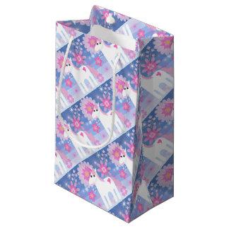 かわいらしいピンクのユニコーンのギフトバッグ スモールペーパーバッグ