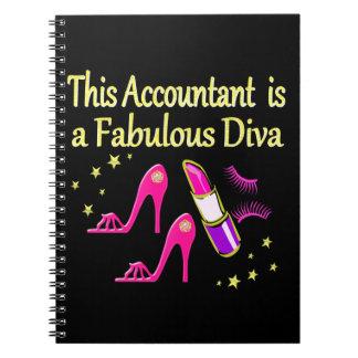 かわいらしいピンクの会計士の花型女性歌手のデザイン ノートブック