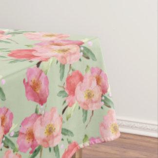 かわいらしいピンクの庭によっては水彩画が開花します テーブルクロス