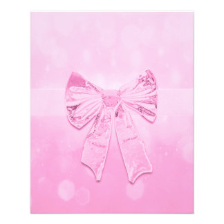 かわいらしいピンクの弓 チラシ