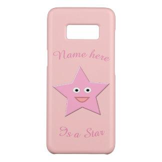 かわいらしいピンクの星カスタムなSamsungは包装します Case-Mate Samsung Galaxy S8ケース